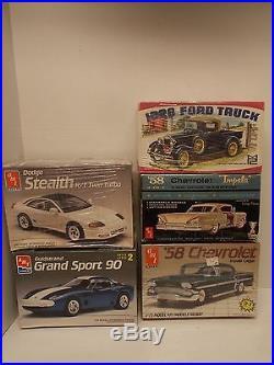 2 Vtg AMT 3in1 1958 Chevrolet Model Kits1 Opened & 1 Sealed PLUS 2 More Kits