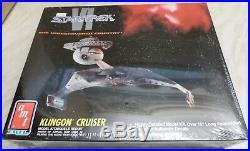 3 AMT Star Trek Model Kits USS Enterprise, Klingon Cruiser, Space Ship Set