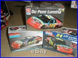 3 Factory Sealed Jeff Gordon #24 Dupont Lumina/monte Carlo Model Kits