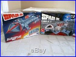 3- Mpc-amt- Space 1999 Hawk Mark IX & Eagle 1 Transporter Model Kits- 2-sealed