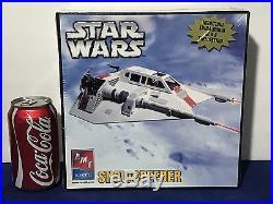 3 New STAR WARS AMT MODEL KITS Snowspeeder X-WING FIGHTER AT-ST Walker ERTL 2005