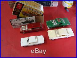 4 MODEL KITS AMT 1964 Chevelle Station Wagon 1962 CORVIAR 1966 IMPALA 1966 CHEVY