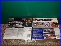 4 Vintage 80's/90's, 3 Sealed, Earnhardt NASCAR Model Kits, AMT #8046 T-Bird, Lumina