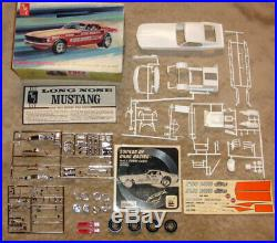50 year old AMT Gas Ronda Longnoise Mustang Funny Car 100% unbuilt with record