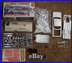 51 year old AMT 1965 Dodge Coronet HEMI CHARGER 3 in 1 customizing kit COMPLETE