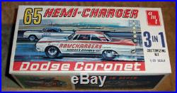 54 year old AMT 1965 Dodge Coronet 3in1 Ramchargers HEMI CHARGER 100% & unbuilt