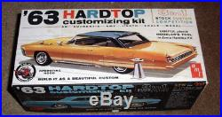 55 year old AMT 1963 Pontiac Bonneville 3in1 customizing kit 100% & unbuilt MINT