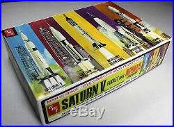 5 NASA Rocket Model Kits Saturn 1B/V & Apollo Spacecraft, Mercury, Gemini Titan