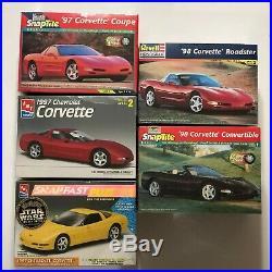 5 Sealed Revell/Monogram & AMT/ERTL'97 and'98 Corvette 1/25 Plastic Model Kits