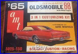 65 Olds Dynamic 88 Hardtop Vintage AMT 1/25 Kit Unbuilt 5025 150 Oldsmobile 1965