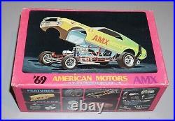 69 American Motors AMX Vintage Original AMT 1/25 Complete & Unstarted