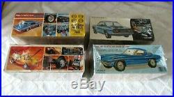 6-vintage Muscle Car Model Kits-amt-mpc-63 Corvette-corvair-mustang-gto-elcamino