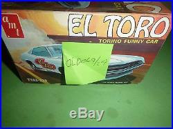 71 AMT EL TORO TORINO FUNNY CAR VINTAGE Model Car Mountain 1/25 T383