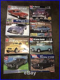 8 Lot Nisb /niob/ Amt/revell/monogram Muscle Model Car Kits