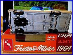 AMT1964 PONTIAC GRAND PRIX SILVERMIST GREY/BLACK w FRICTION. SWEET, WITH BOX