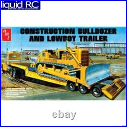AMT 1218 1/25 Lowboy Trailer & Bulldozer Combo