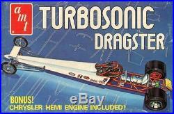 AMT 125 Turbosonic Dragster with Chrysler Hemi Engine Plastic Model Kit #T172U