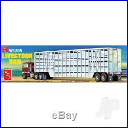 AMT 125 Wilson Livestock Van Trailer Truck Plastic Kit