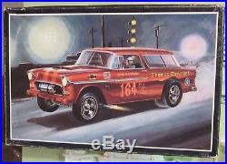 AMT 1955 Chevy Nomad Kit # T289 Unbuilt in 1960's Gasser Drag Art Box 55