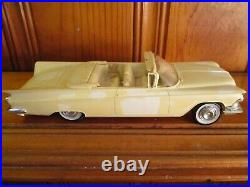 AMT 1959 Buick Invicta Convertible Built Unpainted Model Car Kit Nice Builder