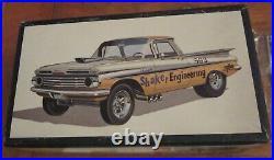 AMT 1959 Chevy El Camino Shaker Drag Late-'60s Art Box Kit # 2359 Unbuilt 59