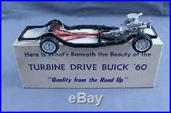 AMT 1960 BUICK TURBINE DRIVE 60 DEALER PROMO CHASSIS MODEL With BOX