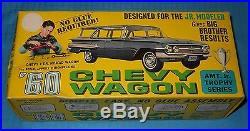 AMT 1960 Chevy Wagon-4 Door Nomad JR Trophy 1/25 Scale Kit-Model Car Swap Meet