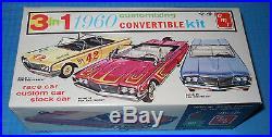 AMT 1960 Mercury Convertible 3 in1 Model Kit-Rare #33360 Case Fresh-NEVER Opened