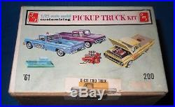 AMT 1961 Ford F-100 Pickup-3 in1 Kit Trailer K-131-Near MINT-Model Car Swap Meet
