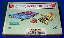 AMT 1961 Ford F-100 Pickup-3 in 1 Kit withTrailer K-131-Near MINT-Complete