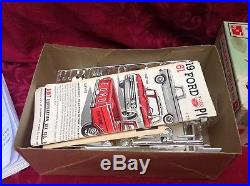 AMT 1961 Ford F-100 Pickup Truck With Trailer & Engine. Rare