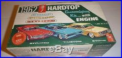 AMT 1962 FORD GALAXIE 500 HARDTOP With ENGIN VINTAGE MODEL CAR MOUNTAIN 1/25 S-122
