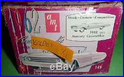 AMT 1962 MERCURY MONTEREY CONVERTIBLE K312 VINTAGE 1/25 MODEL CAR MOUNTAIN KIT