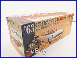 AMT 1963 Chevy II Station Wagon Unbuilt Kit #08-743. 1/25th Scale Good condition