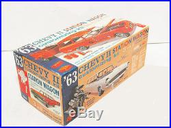 AMT 1963 Chevy II wagon Unbuilt Kit #08-743. STILL FACTORY SEALED! 1/25th Scale