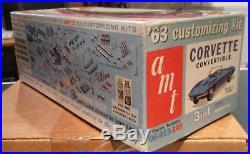 AMT 1963 Corvette Convertible unbuilt original annual 1/25 model kit Chevrolet