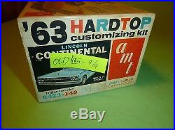 AMT 1963 LINCOLN CONTINENTAL 6423 1/25 Model Car Mountain