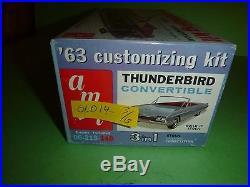 AMT 1963 THUNDERBIRD CONVERTIBLE ANNUAL VINTAGE Model Car Mountain 1/25 06-213