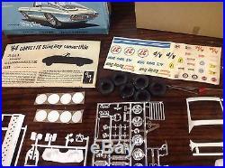 AMT 1964 CORVETTE STINGRAY CONV. WithTRAILER 3 In 1 CUSTOMIZING KIT. RARE. 1/25TH