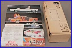 AMT 1964 FORD MUSTANG lt blue 1/24 dealer promotional model BOX & brochure p1