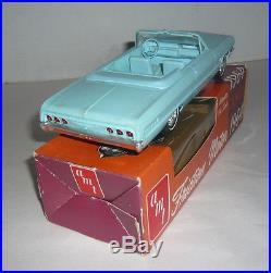 AMT 1964 FRICTION CHEVROLET IMPALA SS CONVERTIBLE PROMO CAR BLUE IN ORIGINAL BOX