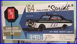 AMT 1964 Ford Falcon Sprint HT Annual Kit # 5124 Rally Race Built & Box 64