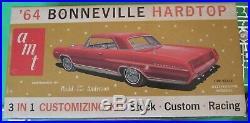 AMT 1964 Pontiac Bonneville Hardtop HT 3-in-1 Annual Kit #6624 Unbuilt in Box 64