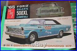AMT 1965 Ford Galaxie 500XL Convertible 3-in1 Annual Kit #6115 Unbuilt in Box 65