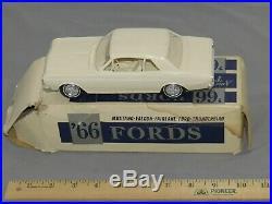 AMT 1966 Ford Falcon Futura Sports Coupe 260 2 dr ht dealer car promo WHITE NIB