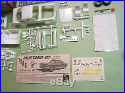 AMT 1966 Ford Mustang GT Fastback Tasca Shelby Kit # 6166 Vintage Road Race 66