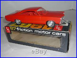 AMT 1967 FRICTION FORD GALAXIE HARDTOP PROMO CAR RED IN ORIGINAL BOX MINT