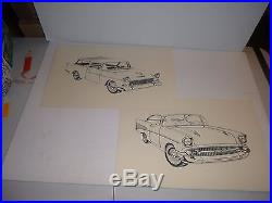 Amt 1967 Vintage Automotive Illustrator's Illustration Set Paint By Number