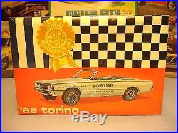 Amt 1968 Ford Torino Indy 500 Pace Car T237-200 Mpc 1/25 Mint Factory Sealed Kit