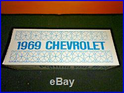 AMT 1969 CHEVELLE SS 396 CONV. ERMIN WHITE DEALER PROMO MODEL CAR WithOB EXCELLENT